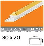 Kabelkanal 15x10 PVC Farbe Weiß Selbstklebend (30x20)