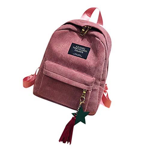DQANIU ❤️ Frauen Rucksack, Damen Mini Einfache Cord Rucksäcke Campus Stil Reine Farbe Freizeit Rucksäcke Stil Cord