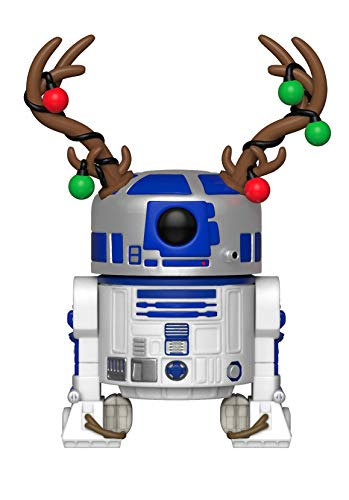 Funko–Pop.Color Star Wars Color Holiday R2-D2con Antlers (Bobblehead),, 33891
