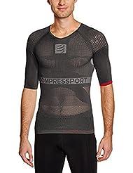 Compressport - Camiseta de compresión para hombre, talla M (Talla del fabricante : T2), color gris