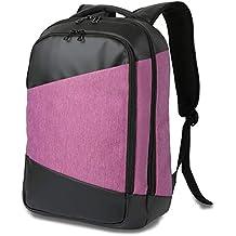 Laptop backpack Puerto USB Antirrobo Mochila para Portátil Impermeable Compartimento Múltiple Mochila 15.6 Pulgadas,Pink