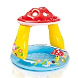 LLVV Kinder Aufblasbarer Pool mit Baby Markise Pool Becken Pilz Baby Pool Kinder Wasser Spielpool