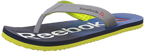 Reebok Men's Embossed Flip Navy, Blue, Yellow, White, Red and Black Flip-Flops and House Slippers - 6 UK/India (39 EU)(7 US)  available at amazon for Rs.599