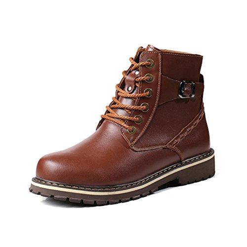 ZQ@QXTesta di inverno di cotone moda scarpe caldi stivali breve outdoor tonaca uomini scarpe di cotone brown Add fur