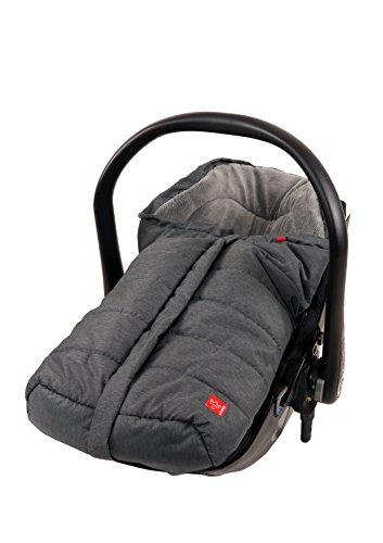*Kaiser 65338325 Babyschalenfußsack Ella, schwarz melange*