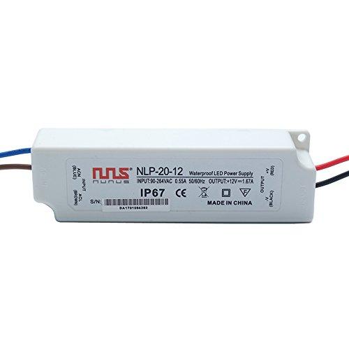 NuNus LED Transformateur Electronique 12V 20W IP67 LPV-20-12
