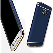 Galaxy S6 Funda,HAVE1SEE Hybrid Luxury Shockproof Armor Back Ultra-thin Funda Cover Removable Funda for Samsung Galaxy S6 Dark Blue