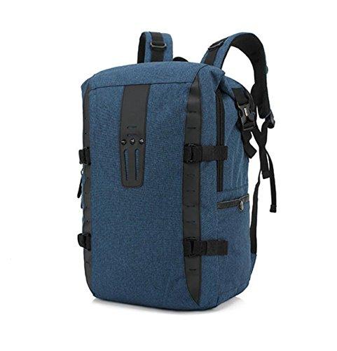 Z&N Multifunktionale Männer und Frauen Schultertasche Schüler Reisetasche Mode kreativen Rucksack wasserdichte große Kapazität Casual Laptop Rucksack Freizeit Schule im Freien blue