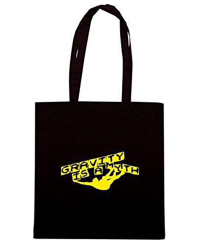 T-Shirtshock - Borsa Shopping SP0067 Gravity Is A Myth Maglietta Nero