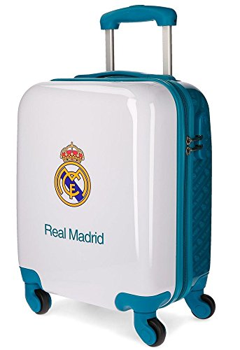 Real Madrid Kings Of Europe Equipaje de Mano, 46 cm, 26 Litros, Blanco