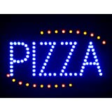 LAMPE NEON ENSEIGNE LUMINEUSE LED nled008-b Pizza Shop OPEN LED Neon Business Light Sign