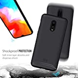 TUDIA OnePlus 6T Case, [Merge Series] Dual Layer Heavy Duty Reinforced Military Standard Extreme Drop Protection/Rugged with Slim Camera Precise Cutouts Phone Case for OnePlus 6T (Matte Black)