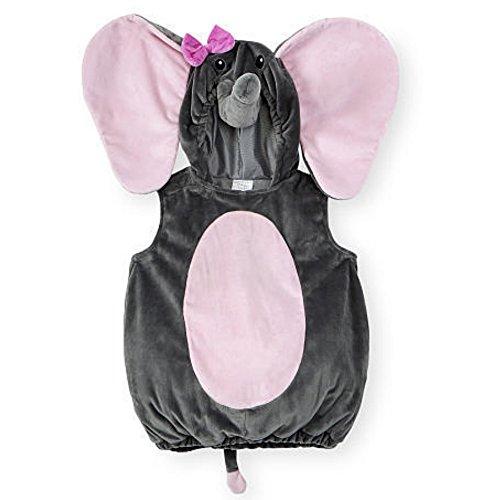 Koala Kids Kinder Baby Halloween Fasching Karneval Kostüm Plüsch Fell Overall Mädchen Elefant (68/74)