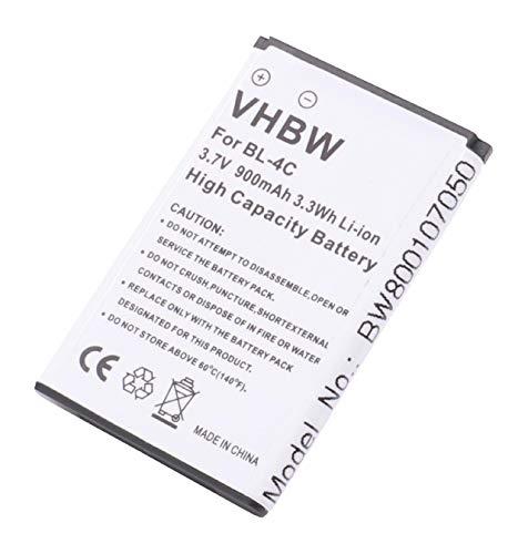 vhbw Li-Ion Akku 900mAh (3.7V) für Handy Telefon Smartphone Simvalley SX-305, SX305 wie Simvalley PX-3909-675. Li-ionen-mobile