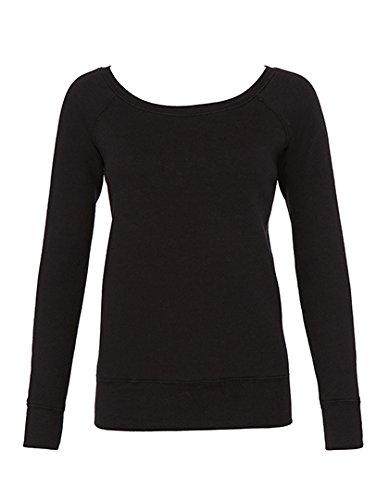 Pullover Femme grande coupe Bella+Canvas Los Angeles Solid Black Triblend