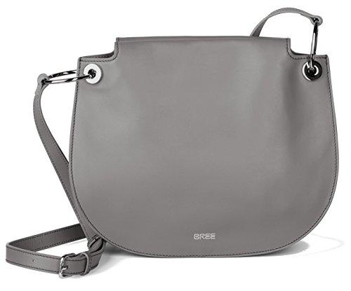 BREE Cordoba 1 | Cross Shoulder Bag | lässige Umhängetasche mit verstellbarem Schulterriemen | camel dark grey