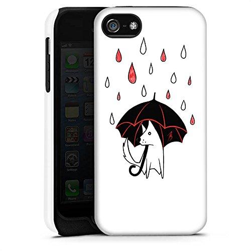 Apple iPhone X Silikon Hülle Case Schutzhülle Hund Comic Style Regen Tough Case matt