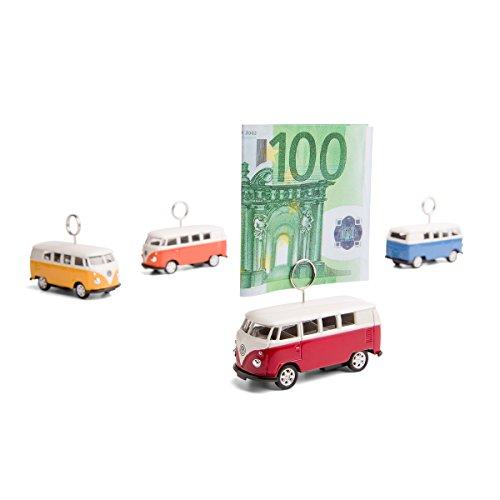 Produktbild VW Bus - Kartenhalter auf Rädern (rot)