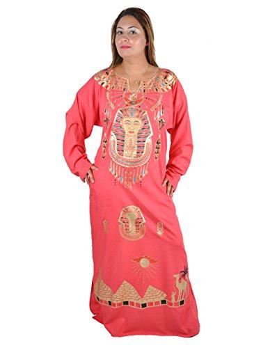 Kleopatra Pharao Kostüm, Fasching Fastnacht Karneval Kleider aus dem Orient Ägypterin. Farbe: rose (56-58 (3XL))