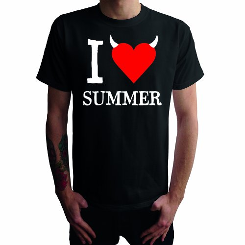 I don't love Summer Herren T-Shirt Schwarz