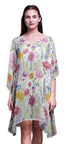 Bimba Blumen-Damen Plus Size KaftanSummer Wear Strand Coverup Kimono Kaftan-S-L -