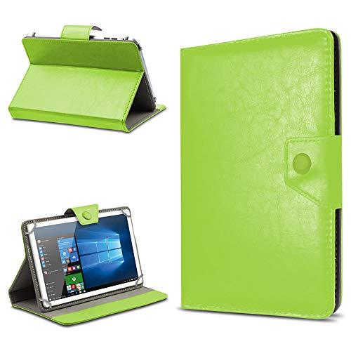 UC-Express Tasche Schutz Hülle für TrekStor SurfTab xintron i 10.1 Tablet Case Stand Cover Farbauswahl, Farben:Grün, Tablet Modell für:BLAUPUNKT Endeavour 1000 WS
