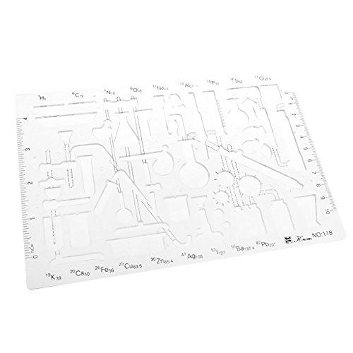 MagiDeal Kunststoff Multifunktionale Zeichnungsvorlage Zeichnung Lineal Technisches Zeichnen Abrundungsschablone - Farbe 1