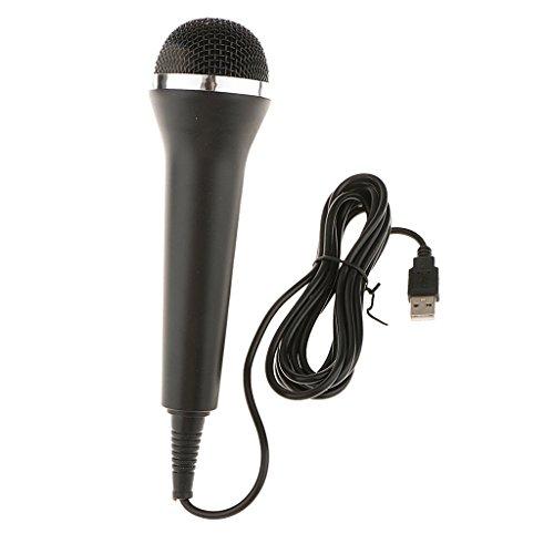 B Baosity Micrófono con Cable USB para Juegos De Karaoke para Nintendo Switch, Wii U, PS4, Xbox One, Xbox 360, PC Singing Game - 210 Mm / 8.3 Pulgadas