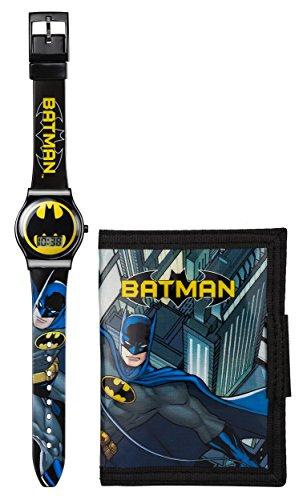 Batman-Orologio per bambino con Display analogico e cinturino in plastica, BAT63DC, colore: nero