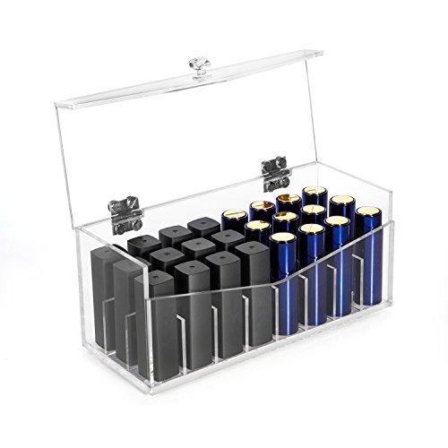HBF Organizador Pintalabios Acrílico 24 Compartimientos Organizadores Cosméticos Cajas De Almacenaje Para Lápiz Labial