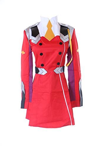 Kawaii-Story MN-65 Zero Two Darling in The Franxx Rot Militär Kleid Anzug Uniform Kostüm Manga Anime Cosplay (L)