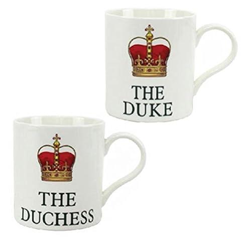 Fun Daisy The Duke Tea Mug Coffee Novelty Mugs Gift Set Home Fine China Kitchen Duchess by Fun Daisy Home Series