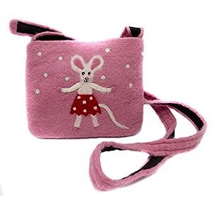 feelz – Umhängetasche aus Filz mit Maus, klein, für Kinder, rosa oder grau, Kindertasche, Filztasche mit Mäusen…
