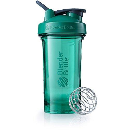 BlenderBottle Pro24 Tritan Protein Shaker | Wasserflasche | Sportflasche | Diät Shaker | 710ml - emerald green