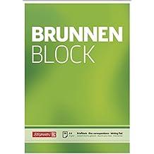 Brunnen 1052726 Briefblock / Schreibblock / Der Brunnen Block (A4, blanko, 50 Blatt, 70 g/m²)