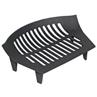 Traditional and practical, with its curved shape this quality fire grate provides extra capacity to hold more logs or coal, just right for those cold and chilly evenings. Produced in cast iron the legs allow for an ashpan to be used too.