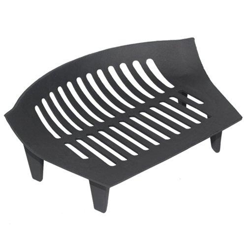 Jvl - griglia per camino, in ghisa, 38 x 27 x 12 cm, colore nero