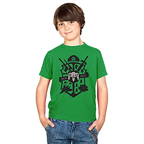 TEXLAB - Big Gaming Logo - Kinder T-Shirt, Größe XL, grün