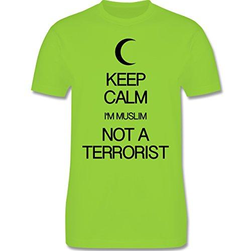 Keep calm - Keep calm I'm Muslim not a terrorist - Herren Premium T-Shirt Hellgrün