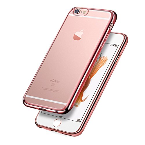 ARTLU® iPhone SE / 5 / 5s Coque Housse Etui, iPhone 5s Or Rose Coque en Silcone, iPhone 5s Placage Coque Clair Ultra-Mince Rose Gold Etui Housse, iPhone 5 Gel Souple Coque Transparent Housse, iPhone 5 / 5s Silicone Rose Gold Silicone Case Soft Gel Cover, e Etui de Protection Cas en caoutchouc en Ultra Slim Souple Cristal Clair Gel TPU Bumper Cas Case Cover Coque Couverture Etui pour Apple iPhone SE / 5 / 5s + 1 X Stylet