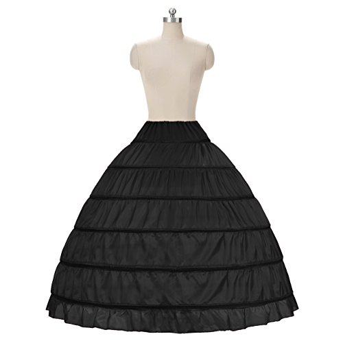 NUOMIQI Full A-Line 6 Hoop bodenlangen Brautkleid Kleid Slip Petticoat