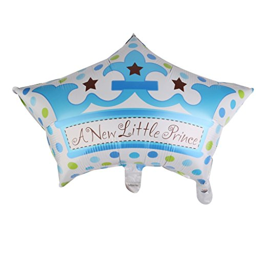 PRIMI 1pc Lovely Little Prince Ballon für Baby Dusche Taufe Party Dekoration (blau)