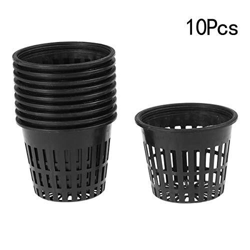 t Pot für hydroponics Garden Net Cup Töpfe Kunststoff Hydroponics Net Pot Eimer Korb für Hydroponics Supplies 3,15 X 2,5 Zoll (Schwarz) ()