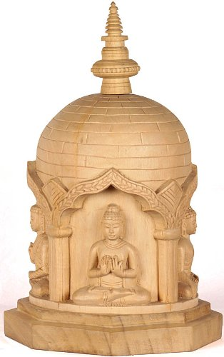 carved-votive-stupa-with-cosmic-buddhas-gambhar-wood-sculpture-from-bodh-gaya