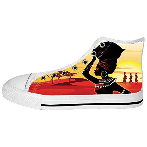 Dalliy African woman Men's Canvas shoes Schuhe Lace-up High-top Sneakers Segeltuchschuhe Leinwand-Schuh-Turnschuhe B
