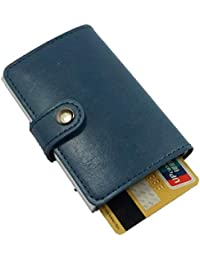 3d9b7ebf64 porta carte di credito e porta banconote, portafoglio da uomo e donna in  pelle PU e alluminio schermato con blocco RFID…
