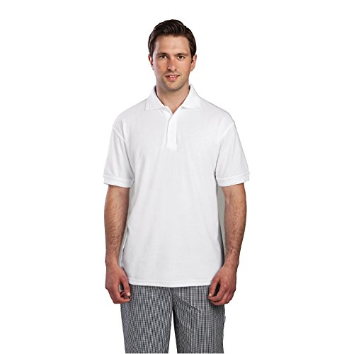 Portwest Polo Shirt Polyester & Cotton Rib-knitted Collar White Extra Large Ref B101WHTXLGE Weiß