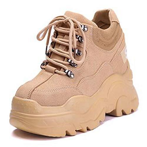 Frau Turnschuhe Mode Hohe Plattform Schuhe Mädchen Höhe Zunehmende Dicke Sohle Schuhe Womens Atmungsaktiv Tägliche Wanderschuhe (Womens Patent-oxford-schuhe)