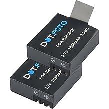 2 x SJCAM M10, SJ4000, SJ5000, SJ5000 plus PREMIUM Dot.Foto Batería de Reemplazo - 3.7V/1050mAh - Garantía de 2 años [Vea compatibilidad en la descripción]
