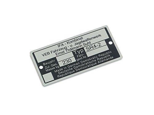 Tipo Targa SR4-2(in alluminio) * * *